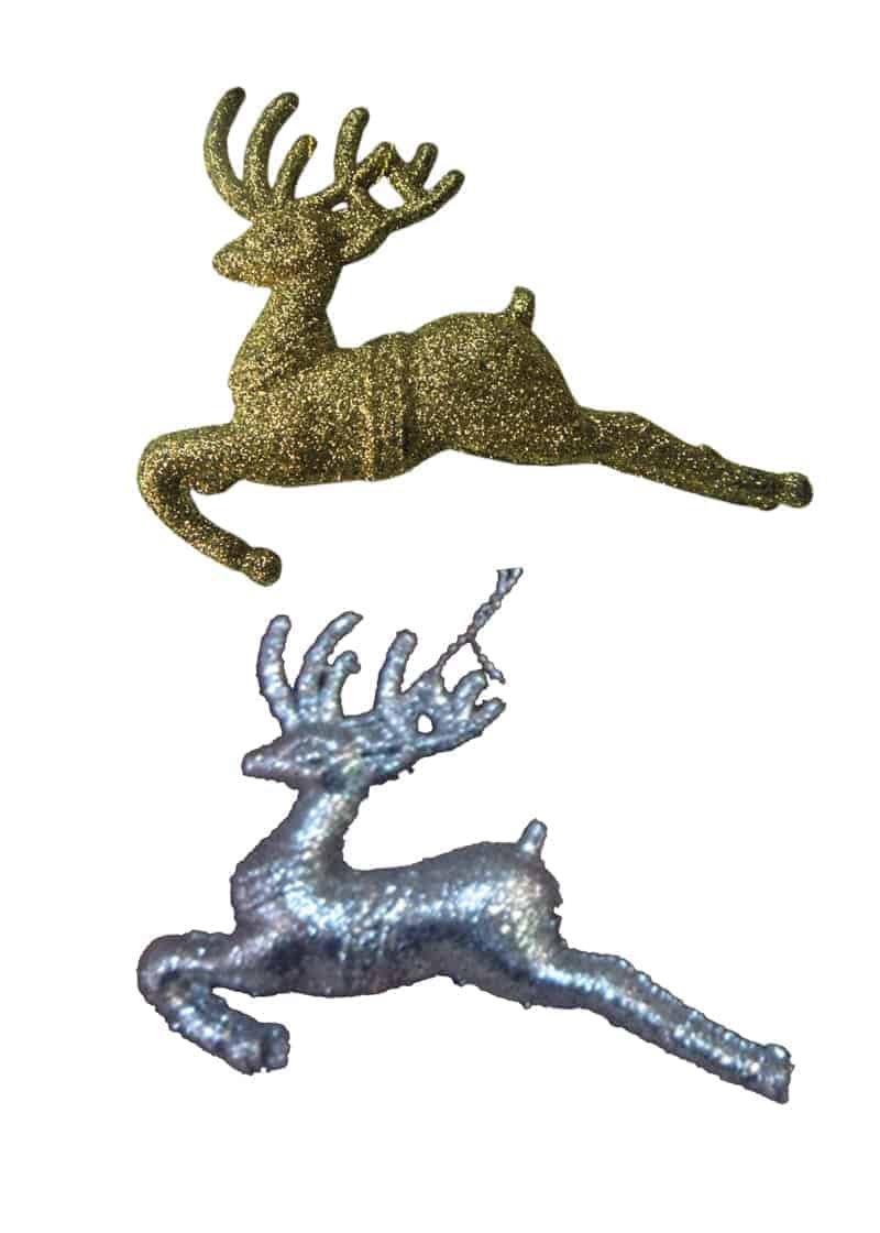 Glitter reindeer 8cm the cps warehouse