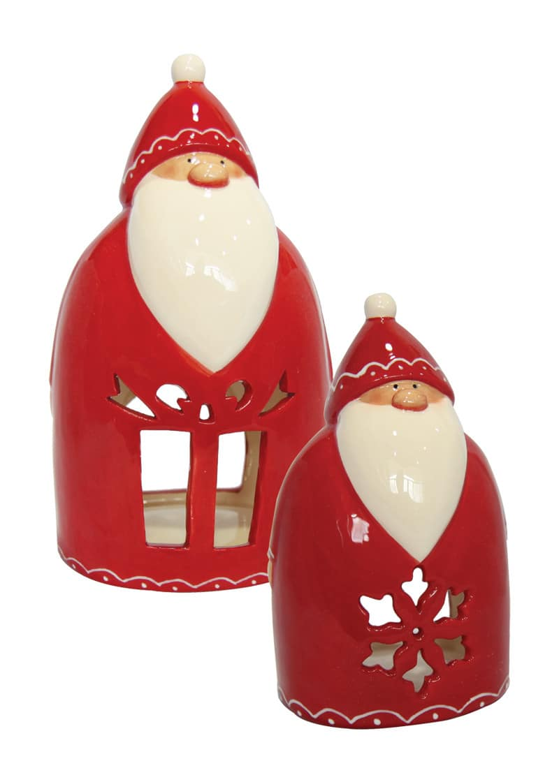 Santa tea light holder red the cps warehouse