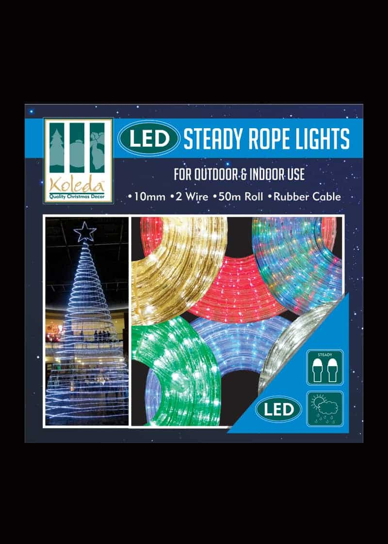Outdoor LED STEADY Rope Lights