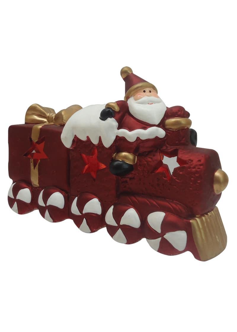 Train santa amp gold bow w light 11cm the cps warehouse