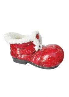santa boot glass