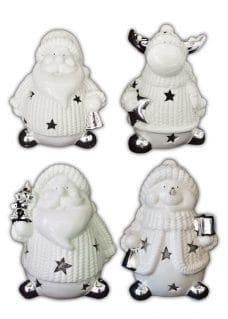 Christmas ornaments white