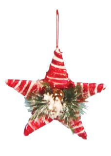 Star candy red hanging ornament
