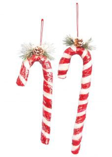 candy cane sets hanging ornaments