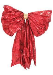 red foil wrap bow 78cm