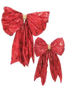red foil wrap bow