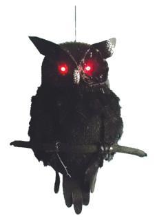 Owl Black light up eyes