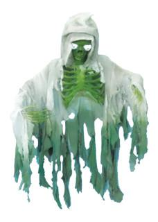 Skeleton Hanging with cloak