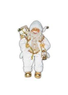 santa sitting in white