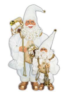 santa standing in white