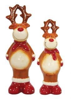 reindeer with red nose ornaments
