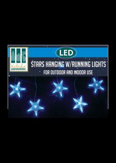 LED stars hanging with running lights box