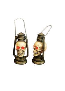 skull lantern with lights