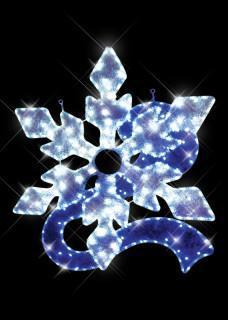 Snowflake with blue Ribbon Motif