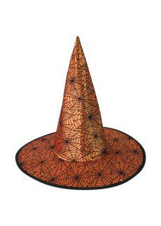 orange with web design witch hat