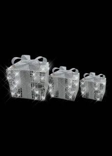 illuminated silver presents