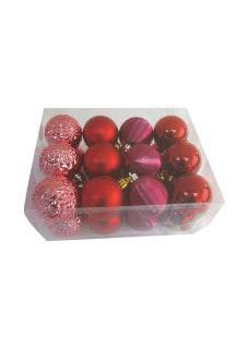 shades for red bauble decor pack 6cm