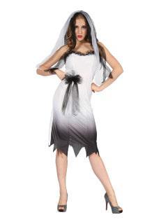 Zombie bride costume woman