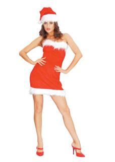 Mini Santa dress costume woman