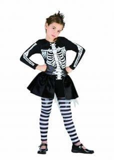 Skeleton costume girl