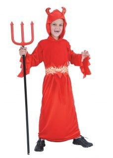 Devil costume boy