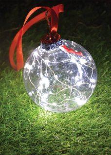 Clear ball battery lights