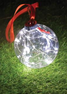 Clear ball battery lights