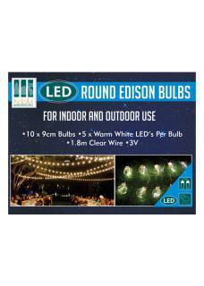 Round Edison bulb Lights box