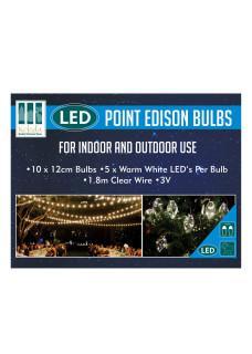 point edison bulb lights box
