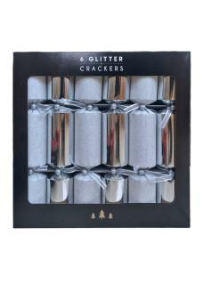 silver glitter crackers