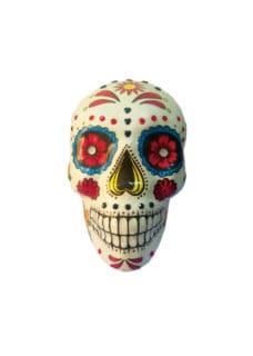 white DOD decorated skull decor