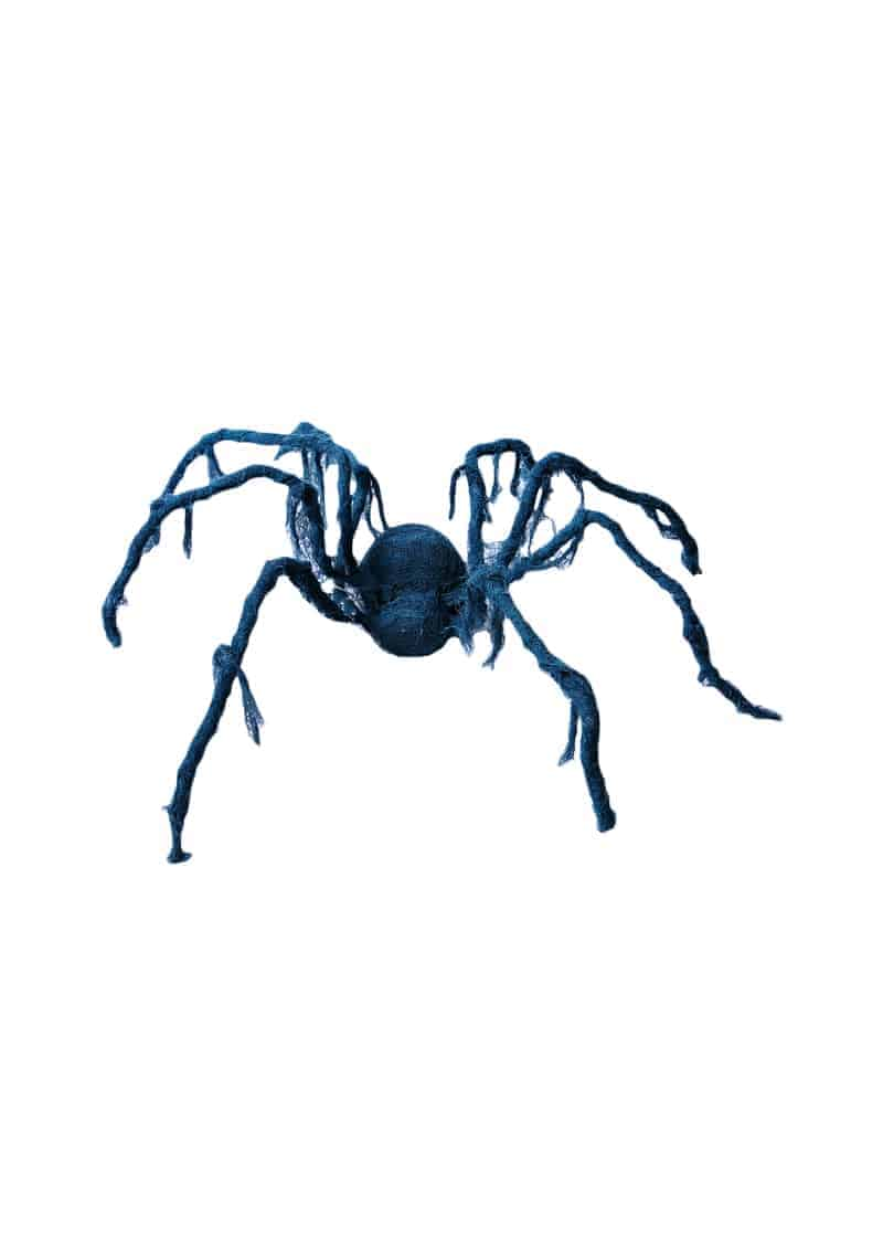 Black animated creepy spider with cloth 1m the cps warehouse for Animated spider halloween decoration