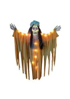 skeleton bride halloween decor