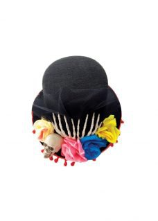 hat with flowers halloween dress up