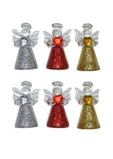 glass angel holding heart