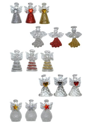 glass angel ornaments