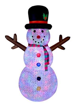 Inflatable Snowman Flashing Lights