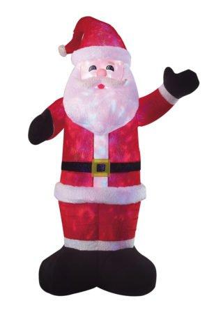 Inflatable Plush Fur Santa