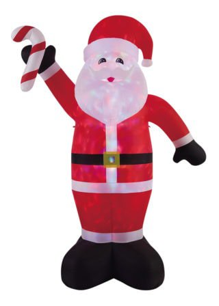 Inflatable Santa with Candy Stick