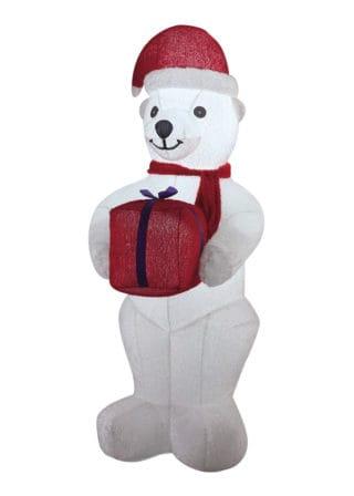 Inflatable Plush Polar Bear