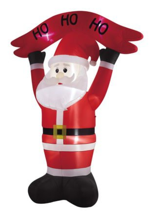 Inflatable Santa Holding Sign