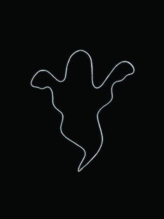 ghost neon outline
