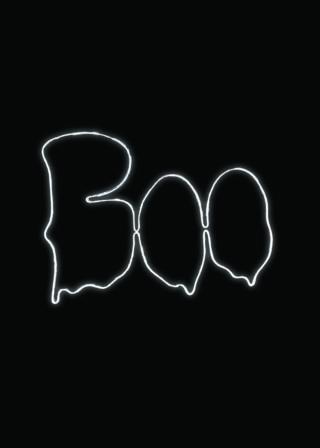 boo neon outline