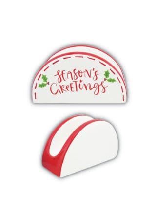 Napkin-Holder-Round-Merry-Christmas-13cm