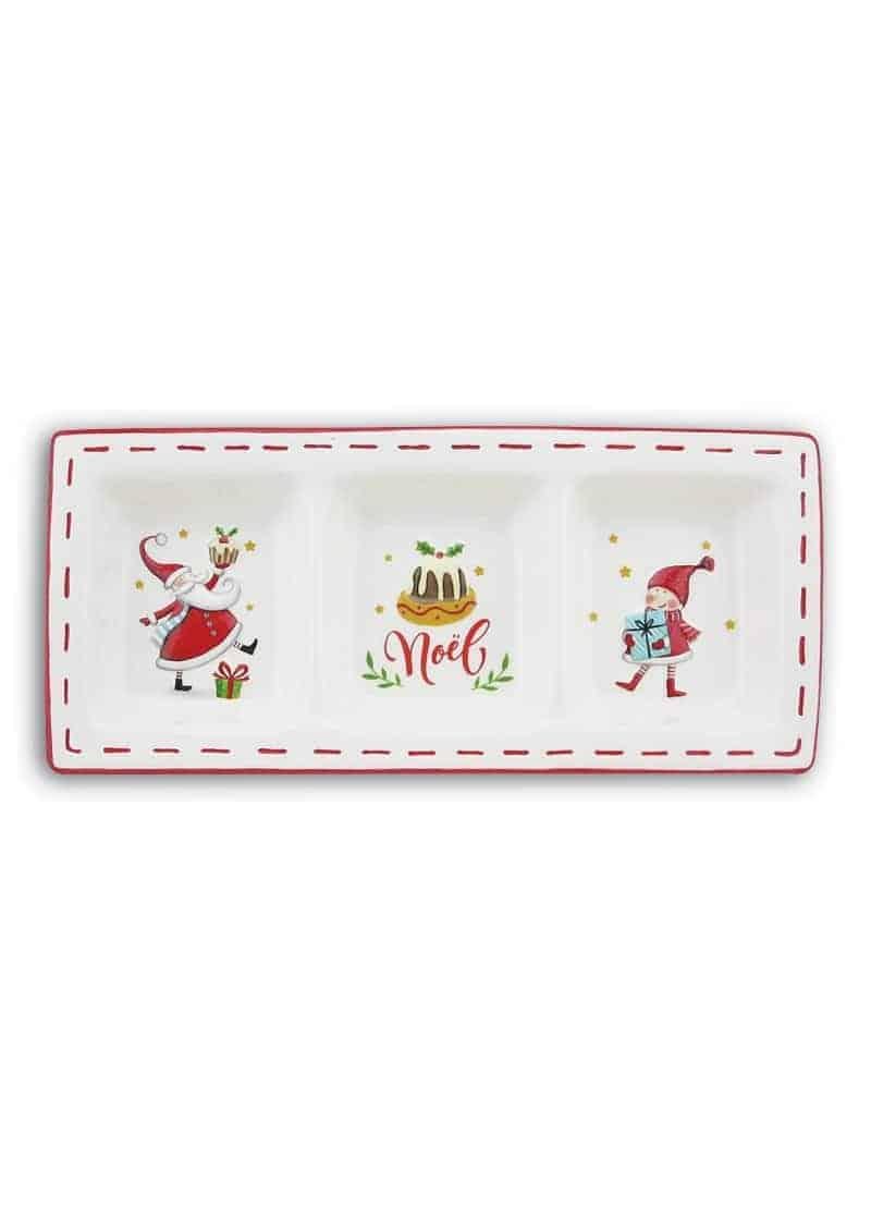 Plate-3-Divided-SantaElf-Cake-30cm