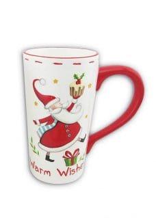 Mug-Large-wSanta-WhiteRed-16cm