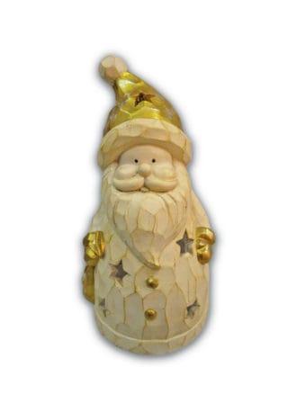 ornament wooden santa