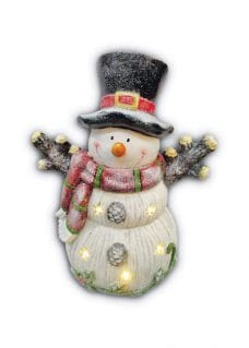 snowman with light