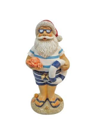 Santa on beach wLifesaver