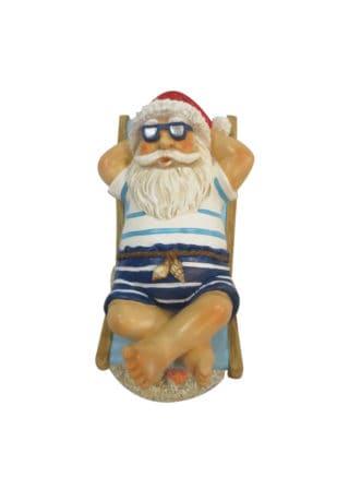 santa on beach chair